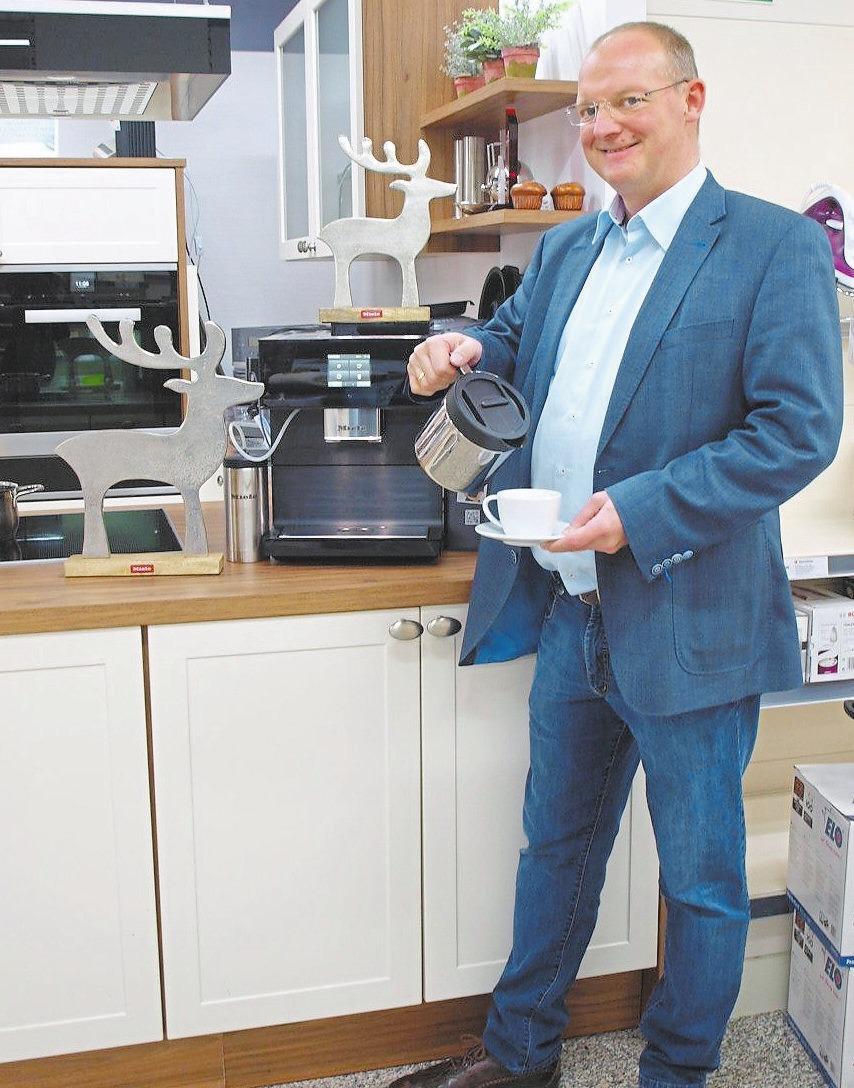 Der Miele Kaffeevollautomat mit Kaffeekannenfunktion.