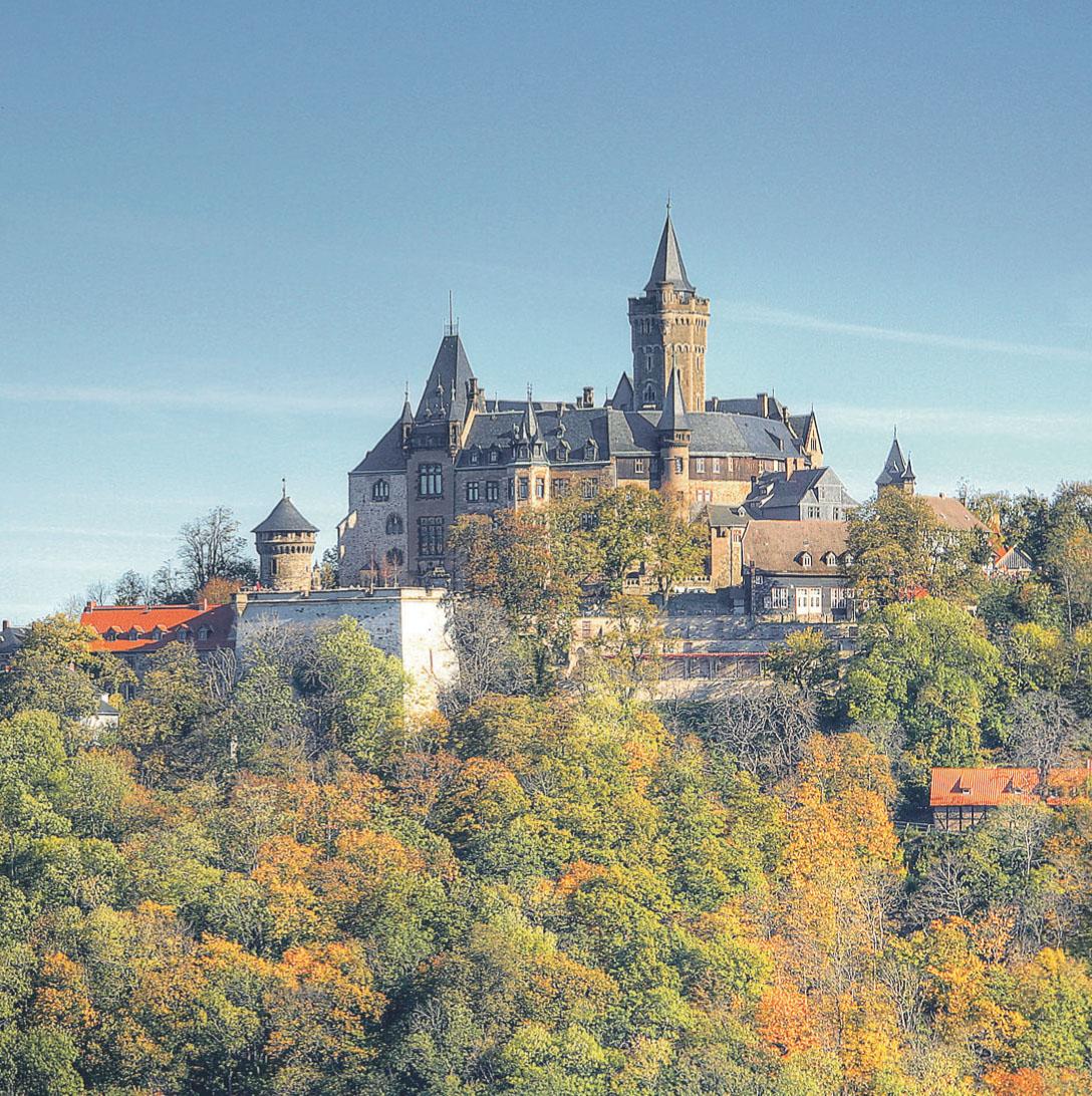 Das Schloss ist eine der zahlreichen Sehenswürdigkeiten in Wernigerode.