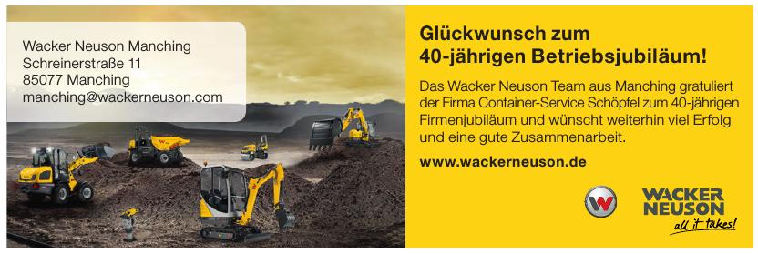 Wacker Neuson Manching