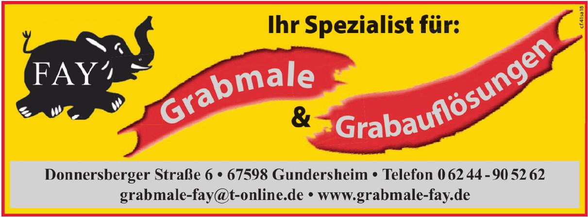 Grabmale & Grabaufösungen Fay