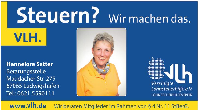 Vereinigte Lohnsteuerhilfe e.V. - Hannelore Satter