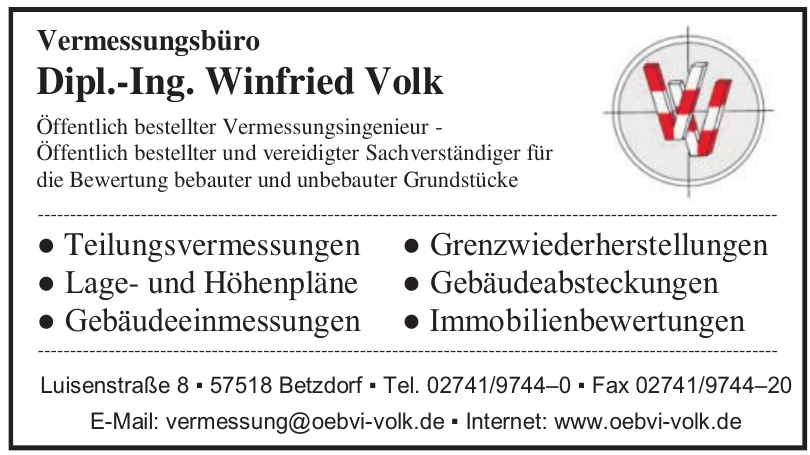 Vermessungsbüro Dipl.-Ing. Winfried Volk