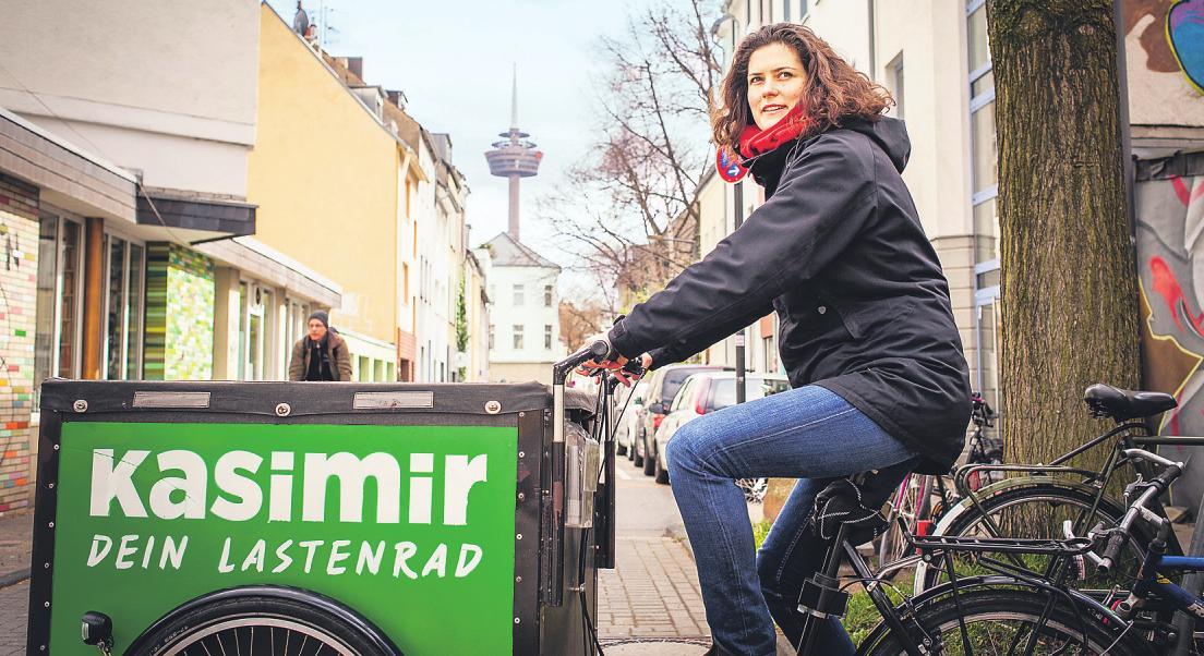 Auf einer Online-Plattform können die Bürger der Domstadt kostenfrei Lastenfahrräder mietenBild: Vorname Name