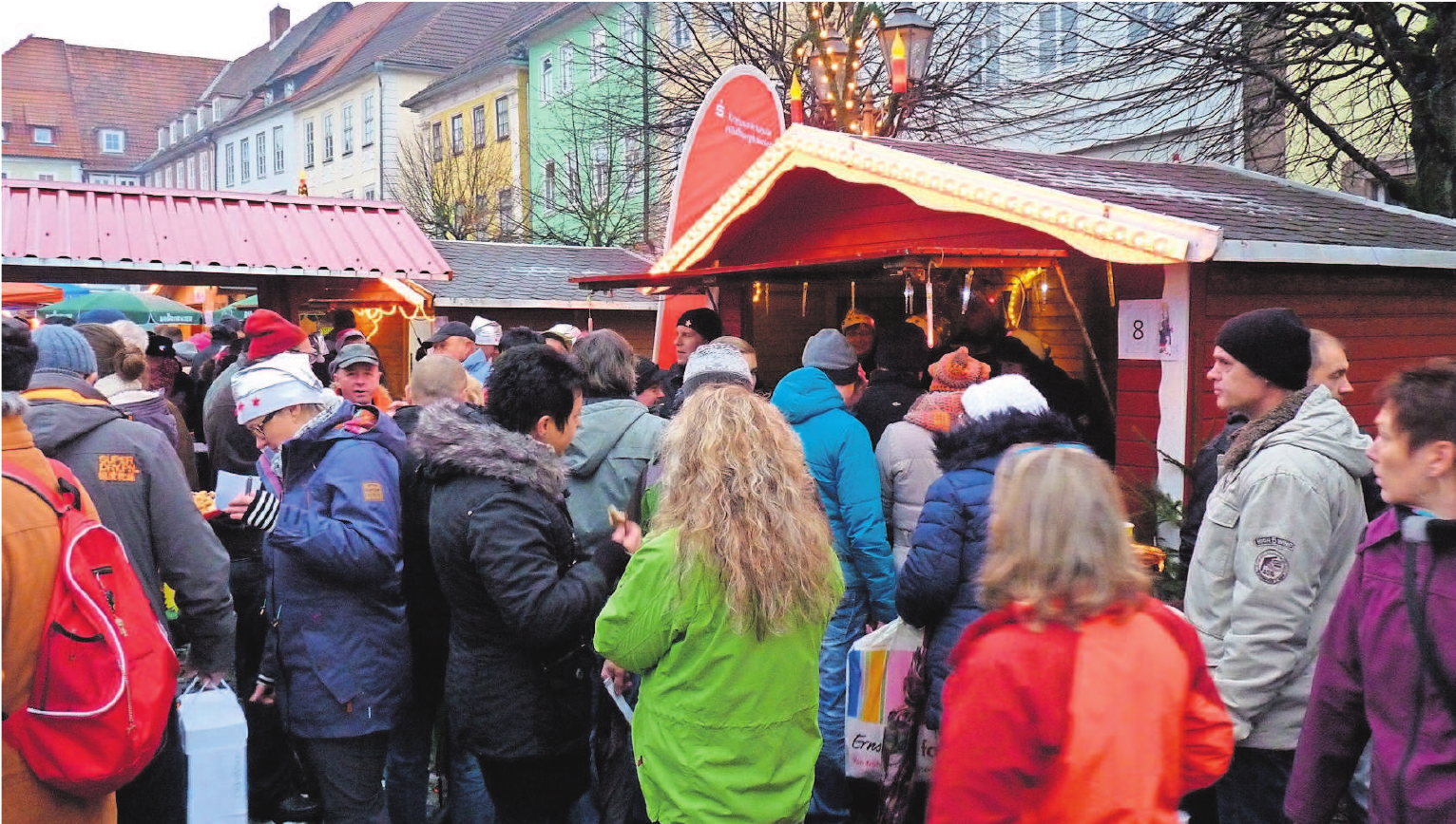 Herzlich willkommen zum Gänselieschen Glühweinmarkt in Hildburghausen. Foto: Archiv/Werbering