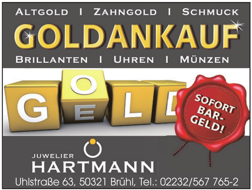 Juwelier Hartmann Goldkauf