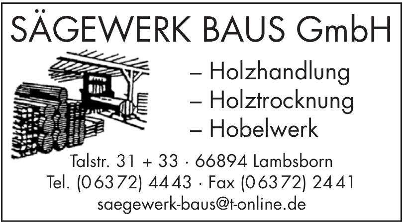 Sägewerk Baus GmbH