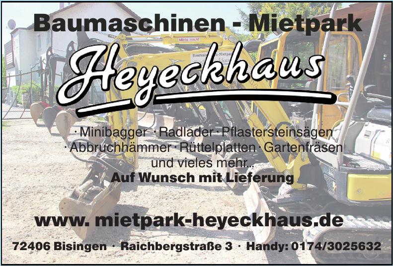 Heyeckhaus Baumaschinen-Mietpark