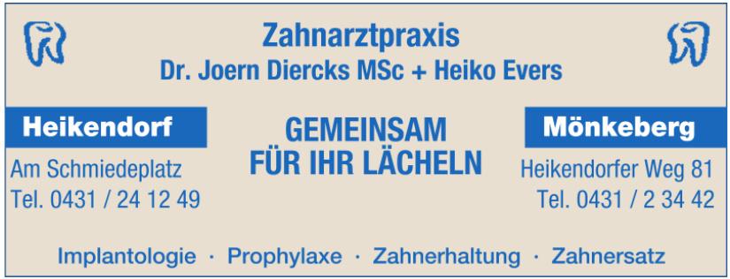 Zahnarztpraxis Dr. Joern Diercks MSc + Heiko Evers
