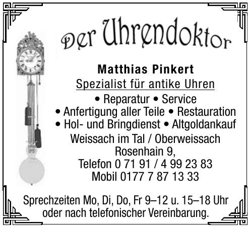 Der Uhrendoktor Matthias Pinkert