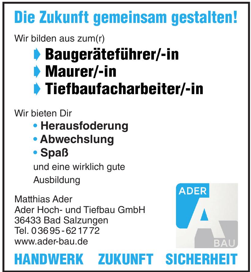 Ader Hoch- und Tiefbau GmbH