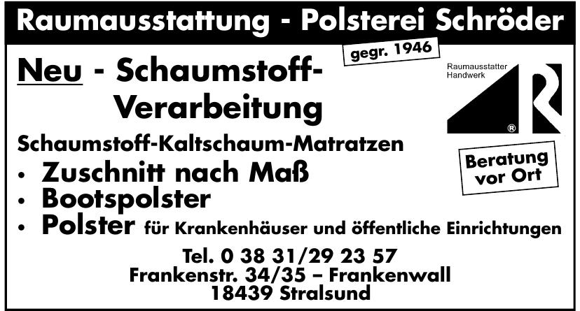 Raumausstattung - Polsterei Schröder