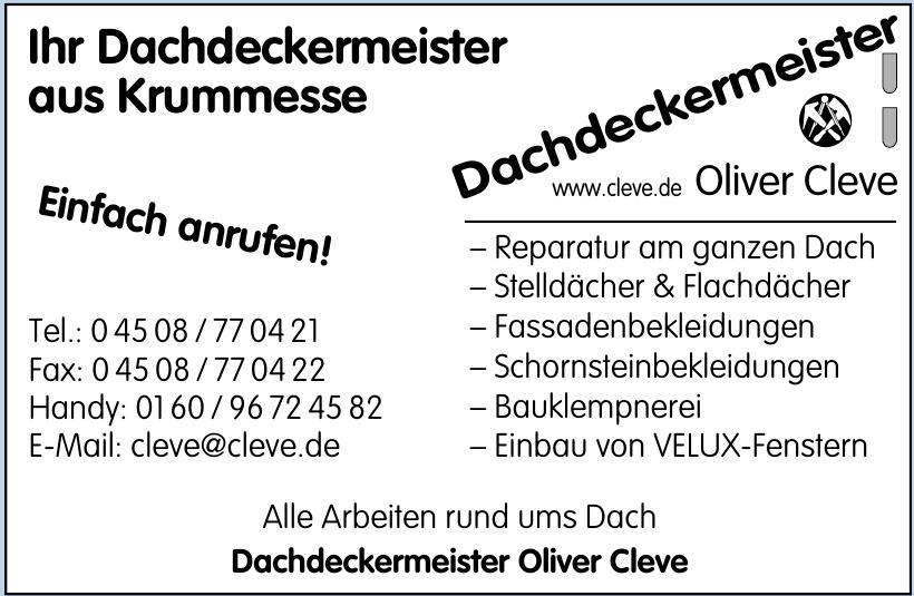 Dachdeckermeister Oliver Cleve