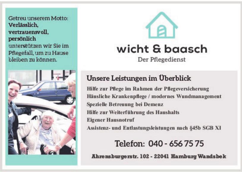 wicht & baasch Der Pflegedienst