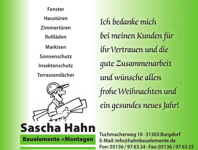 Sascha Hahn Bauelemente + Montagen