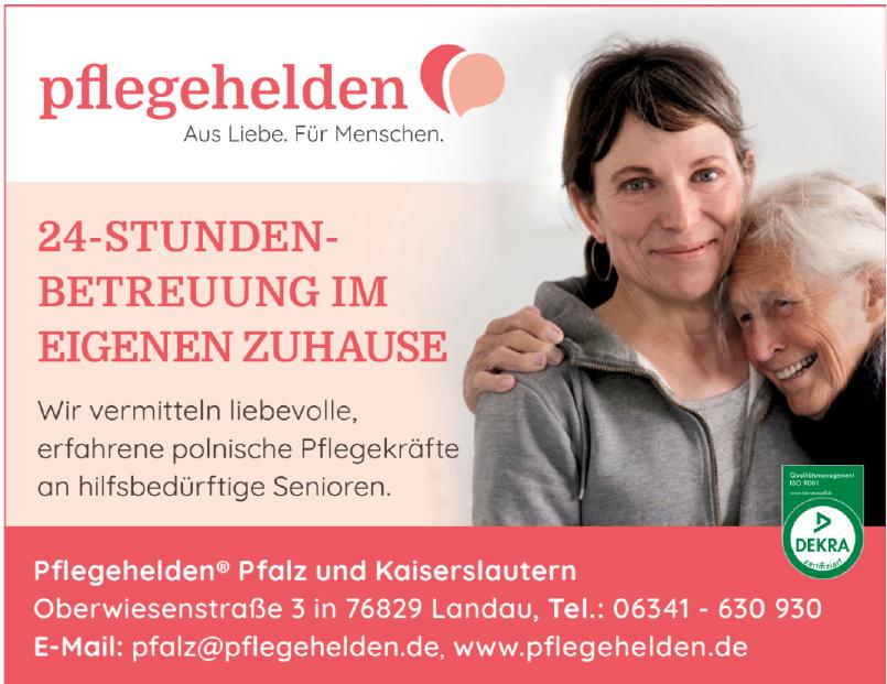 Pflegehelden Pfalz und Kaiserslautern