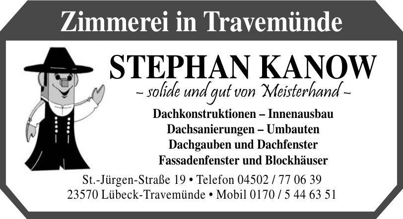 Zimmerei in Travemünde Stephan Kanow