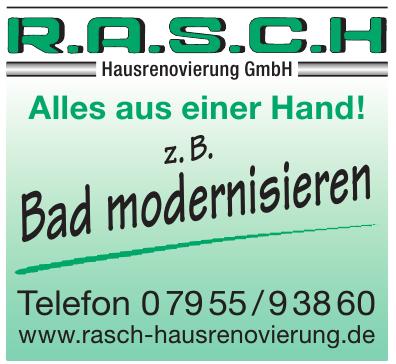 R.A.S.C.H. Hausrenovierung GmbH