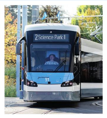 9. Dezember 2018: Die Straßenbahnlinie 2 nimmt den Betrieb auf