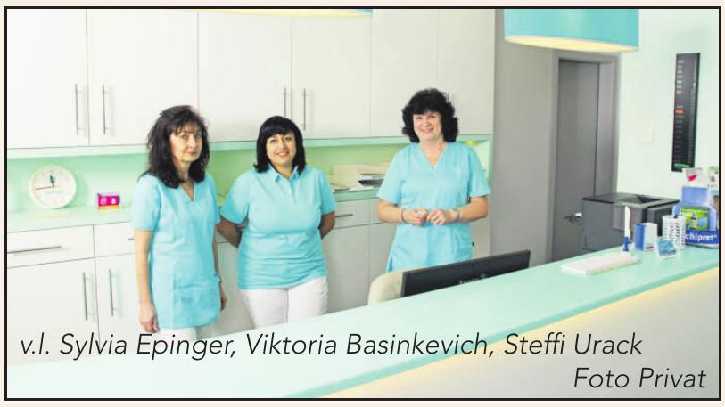 v.l. Sylvia Epinger, Viktoria Basinkevich, Steffi Urack