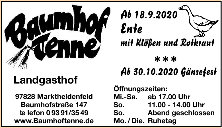 Baumhof-Tenne