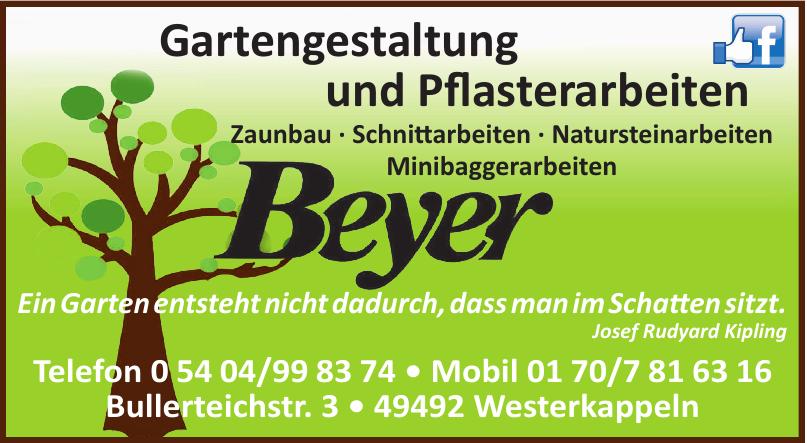 Gartengestaltung und Pflasterarbeiten Beyer