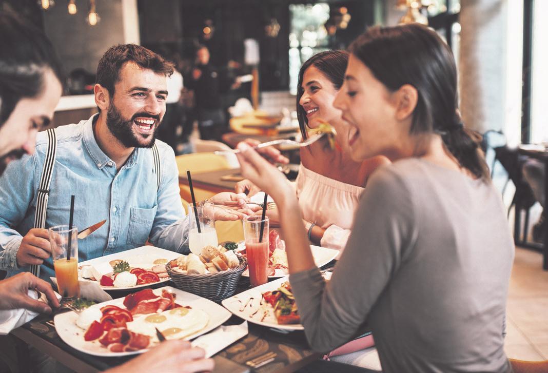 Auch wenn es zurzeit Einschränkungen in den Restaurants gibt: Man sollte sich davon die gute Laune nicht verderben lassen. Foto: zVg.