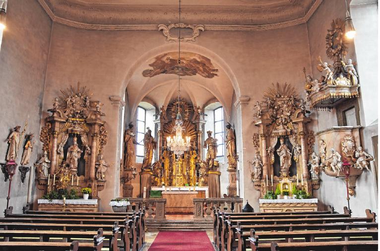 Prachtvoll ist das Innere der Kirche St. Kilian in Untertheres ausgestattet. FOTO: ULRIKE LANGER