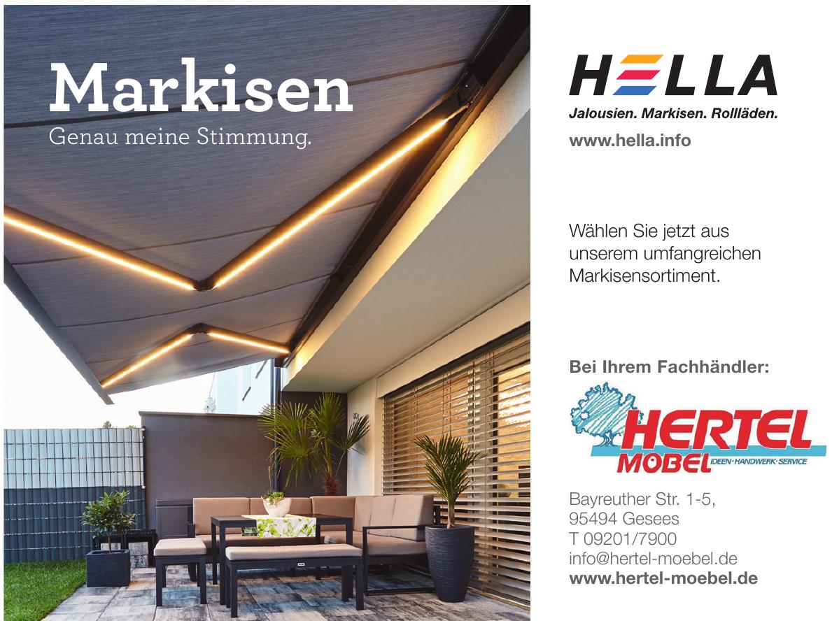 Hella Markisen bei Hertel-Möbel