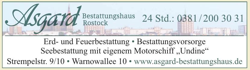 Asgard Bestattungshaus Rostock
