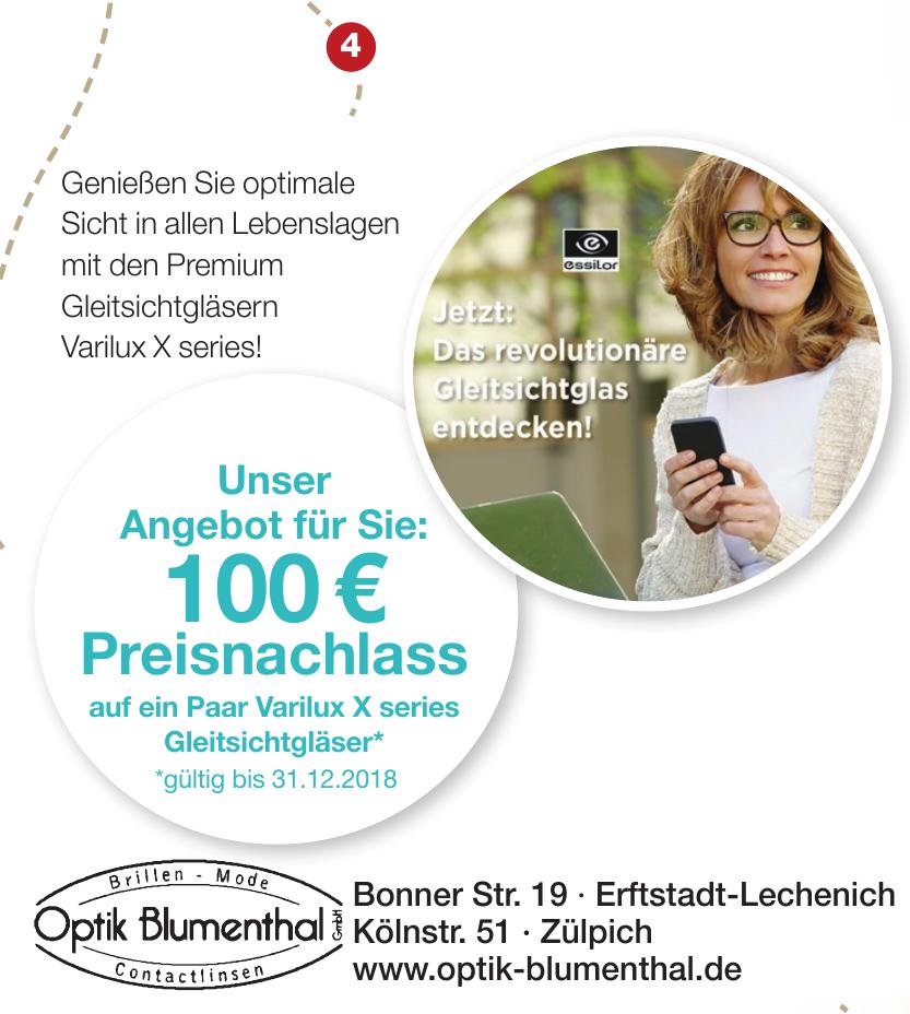 Optik Blumenthal GmbH - Brillen, Mode, Contaktlinsen