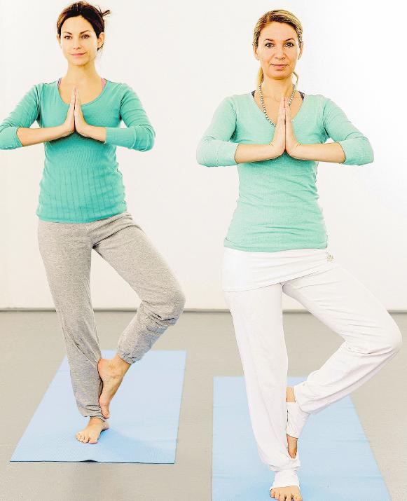 Entspannung ist das beste Mittel gegen Stress: zum Beispiel in Form von Yoga.