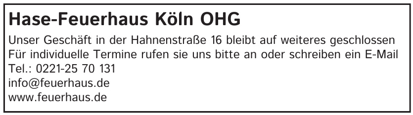 Hase-Feuerhaus Köln OHG