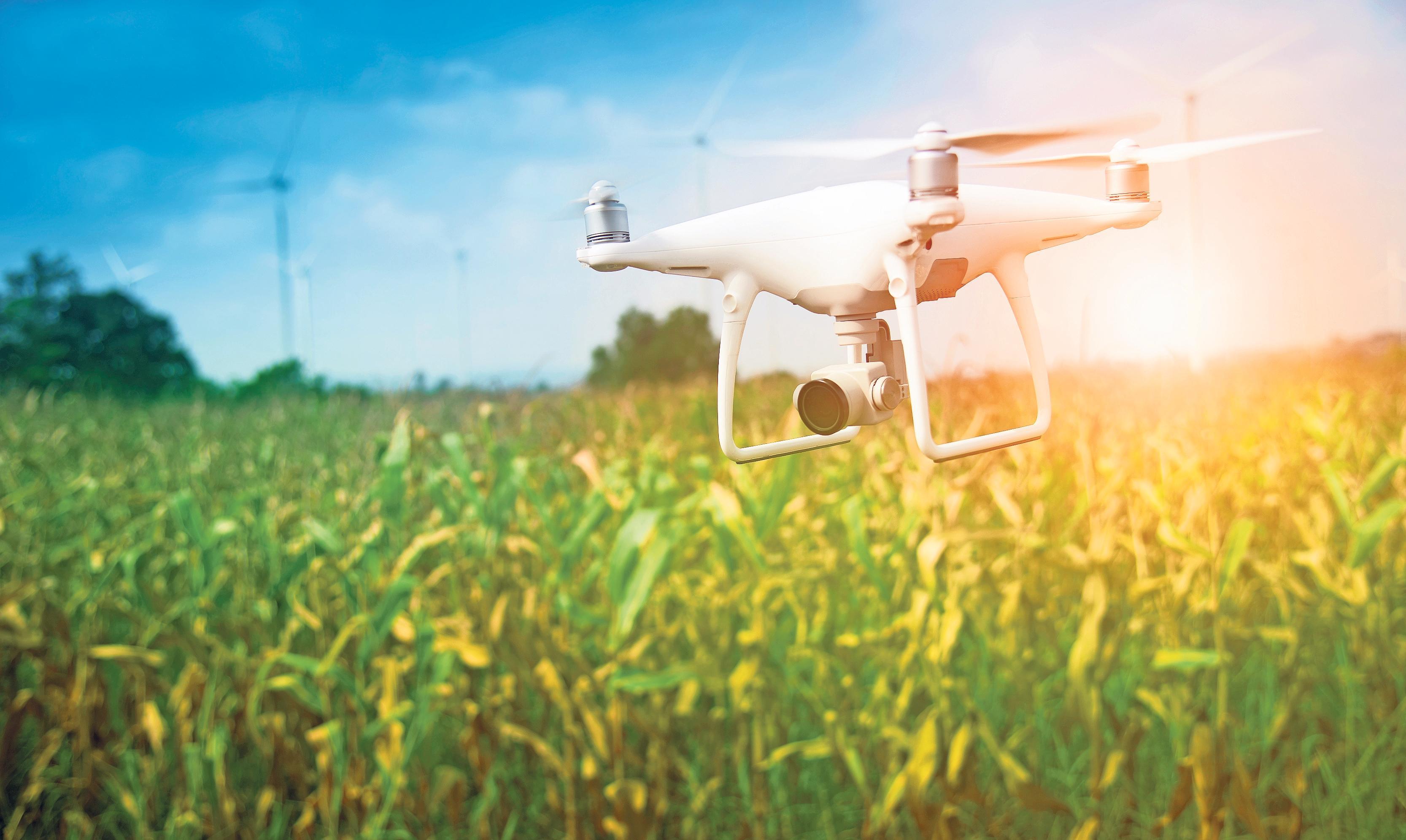 Vor der Mahd werden die Felder mit einer Drohne überflogen, so lassen sich beispielsweise Rehkitze frühzeitig lokalisieren und retten. Foto: Thongsuk/adobe.stock.com