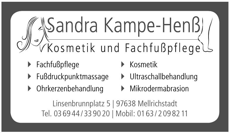 Kosmetik & Fachfuß- pflege Sandra Kampe-Henß