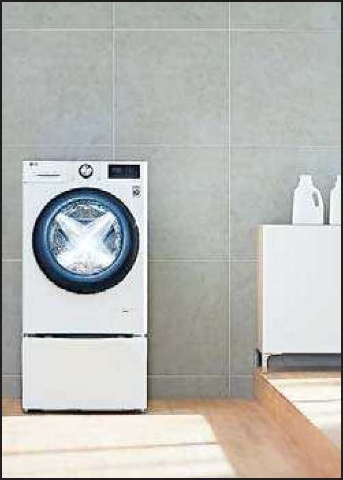 Dank moderner Datenbank: Die Waschmaschine kann die Menge der geladenen Wäsche sowie deren Gewebe analysieren. FOTO: LG/DPA