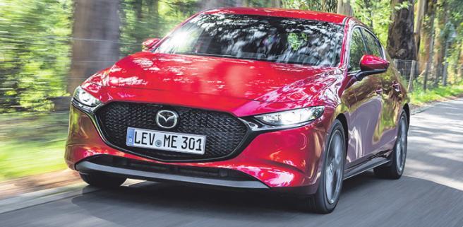 Der neue Mazda 3 kommt in Deutschland zunächst in zwei Motorisierungen auf den Markt. Foto: Mazda