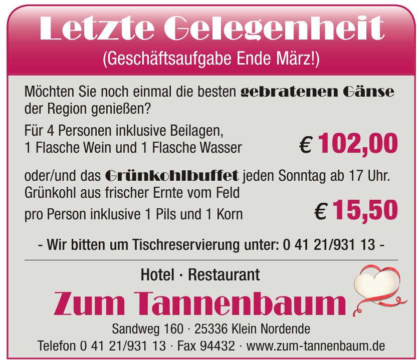 Hotel • Restaurant Zum Tannenbaum