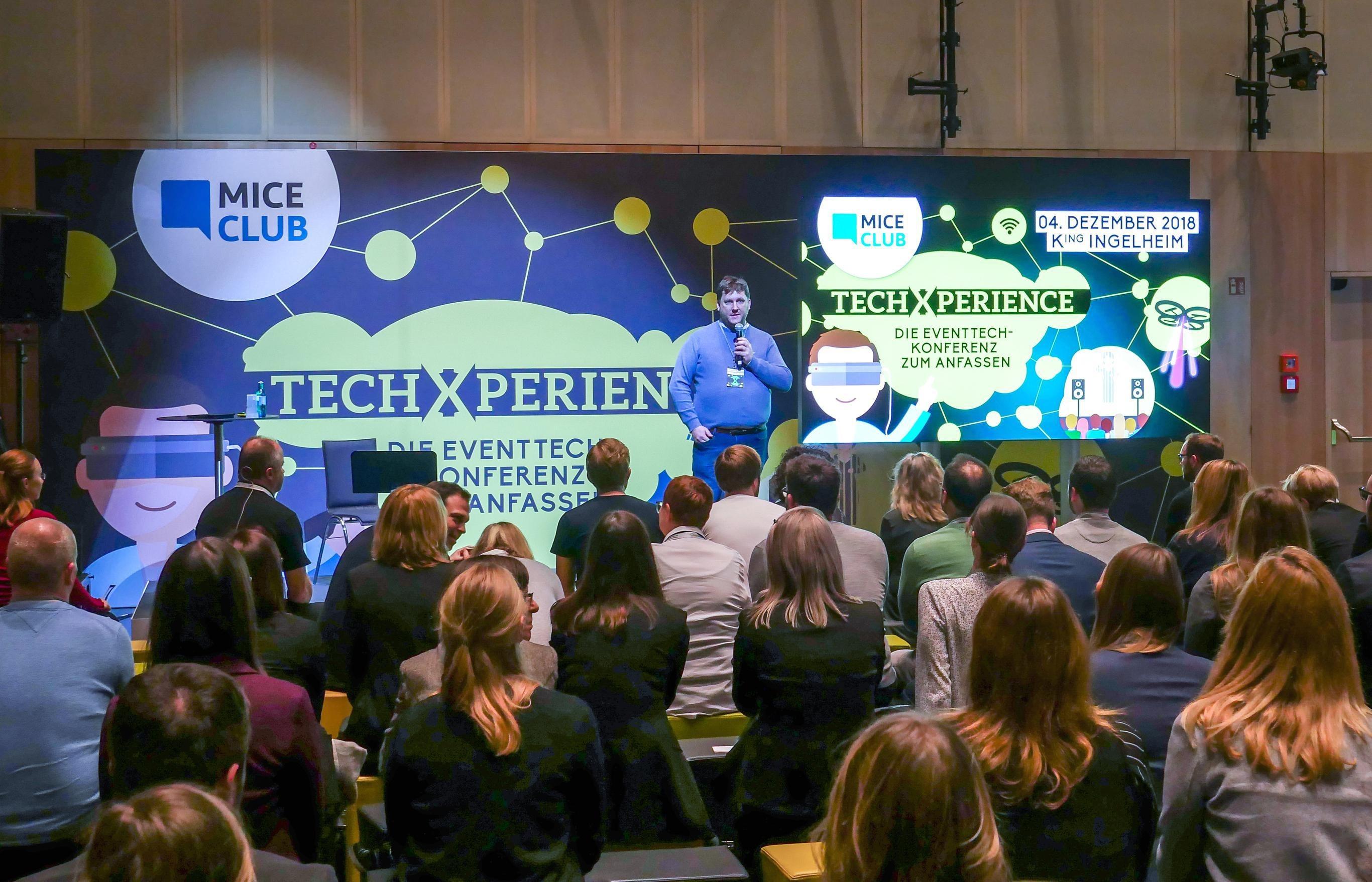 MICE-Club-Geschäftsführer Dominik Deubner bei der Techxperience in Ingelheim.FOTO: MICE CLUB
