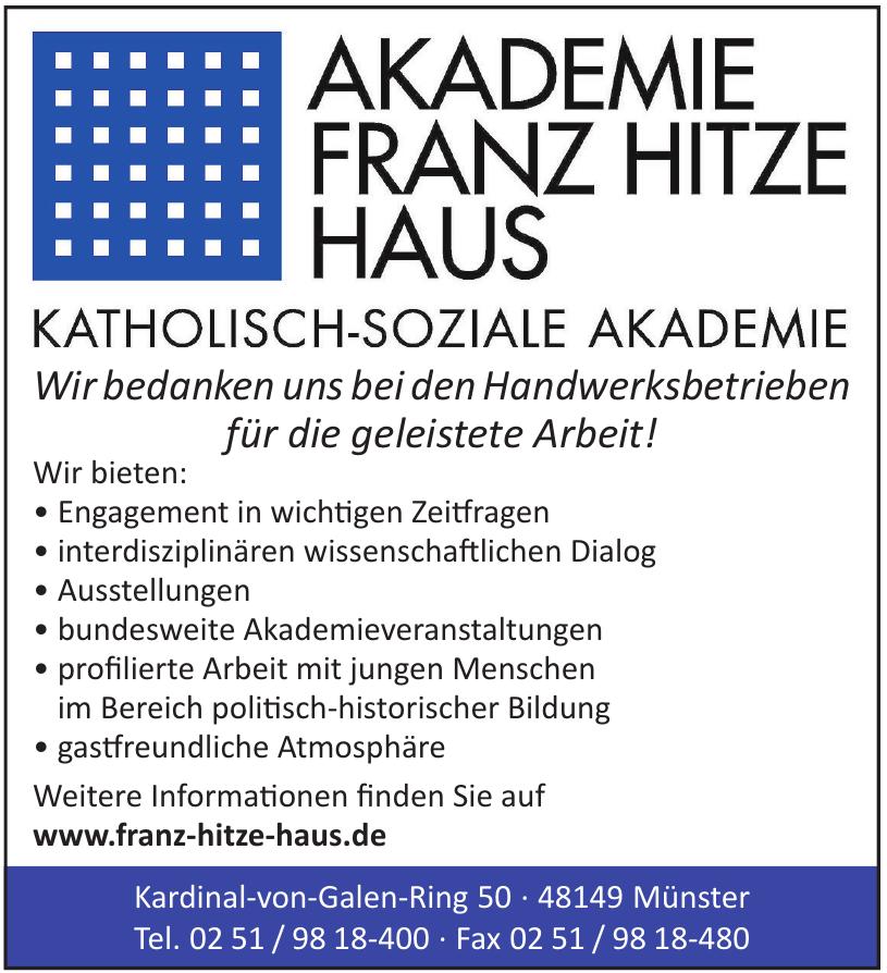 Katholisch-soziale Akademie Franz Hitze Haus