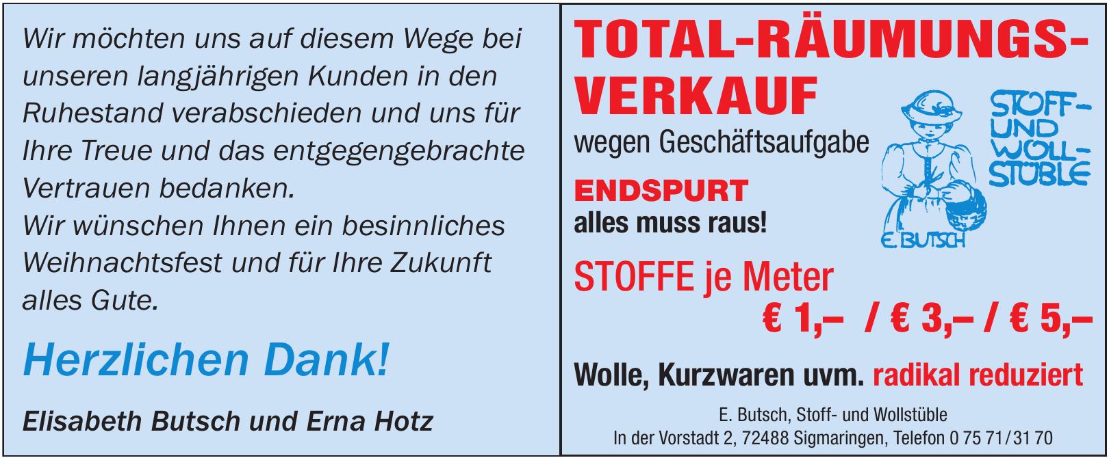 E. Butsch, Stoff- und Wollstüble