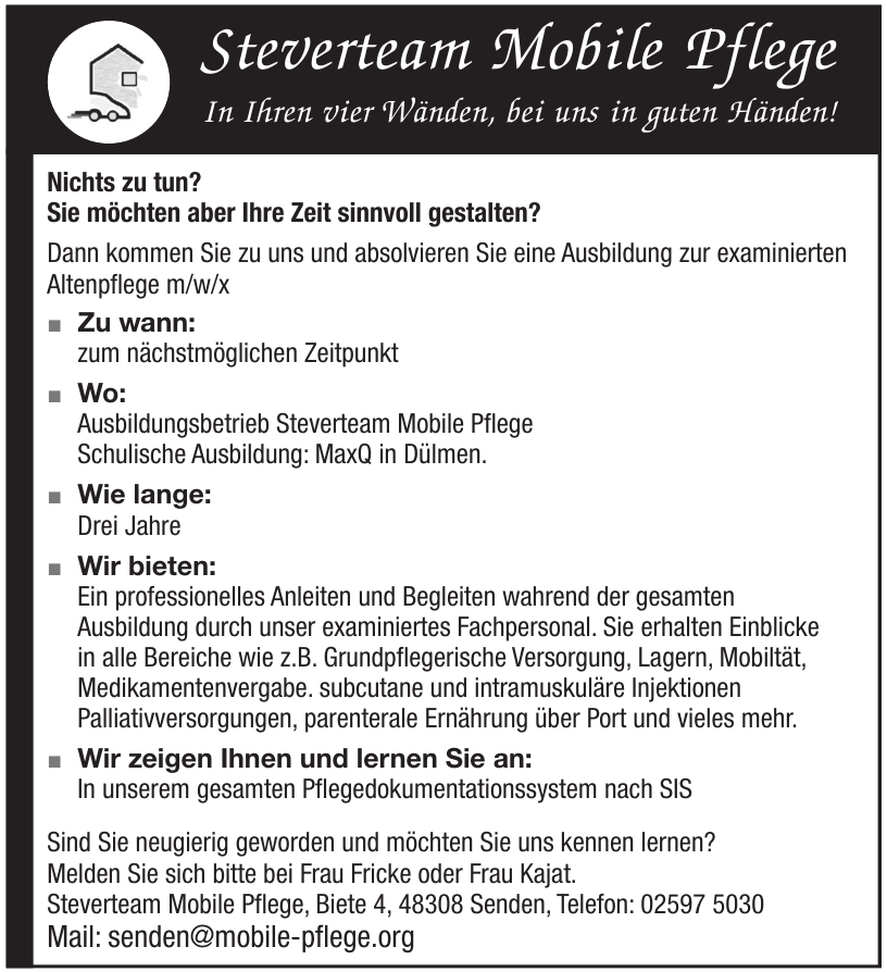 Steverteam Mobile Pflege