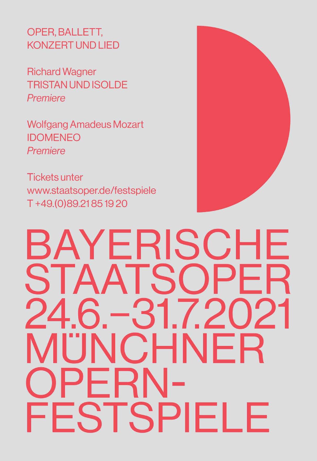 Bayerische Staatsoper - Münchner Opernfestspiele 2021