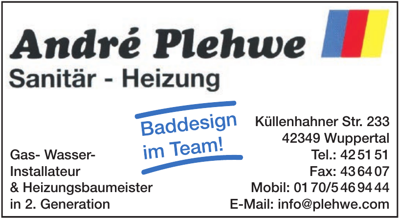 André Plehwe Sanitär – Heizung