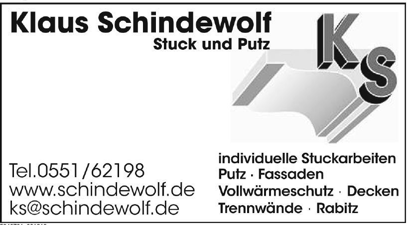 Klaus Schindewolf - Stuck und Putz