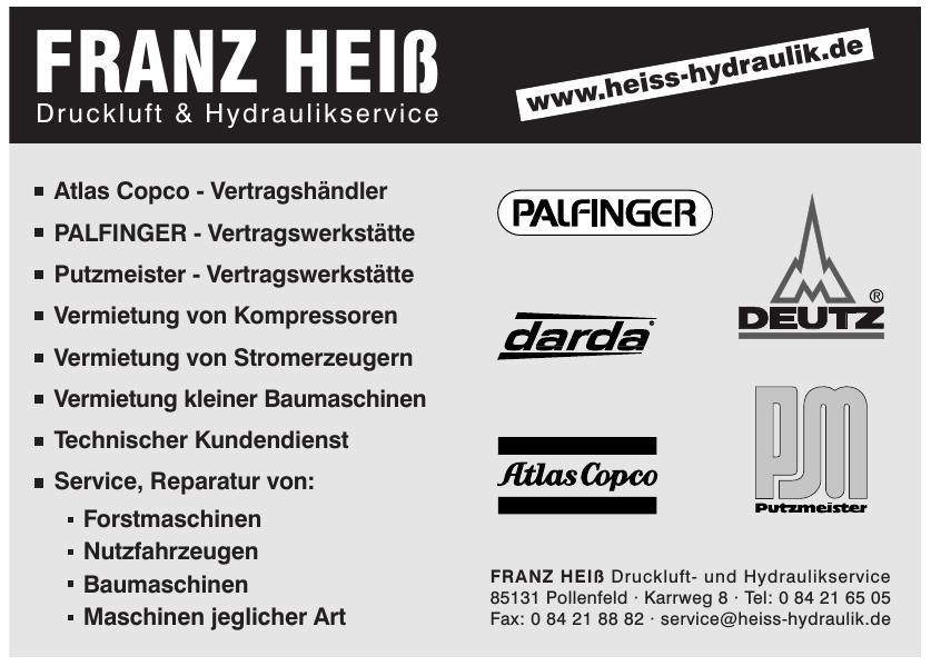 Franz Hieß Druckluft- und Hydraulikservice