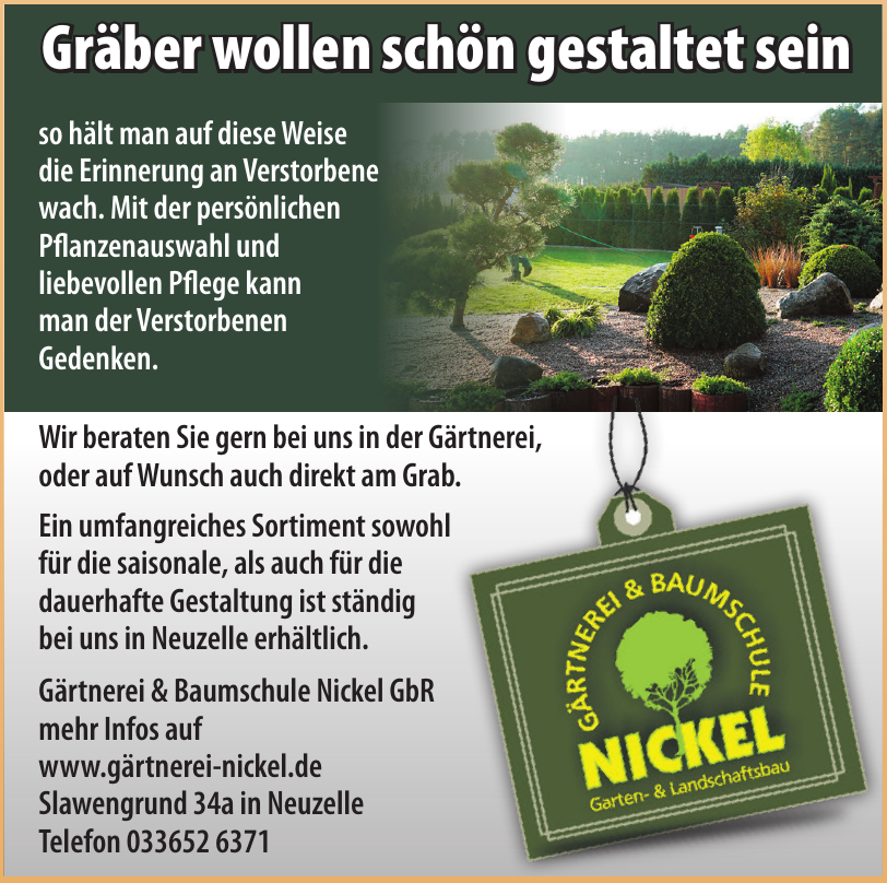Gärtnerei & Baumschule Nickel GbR