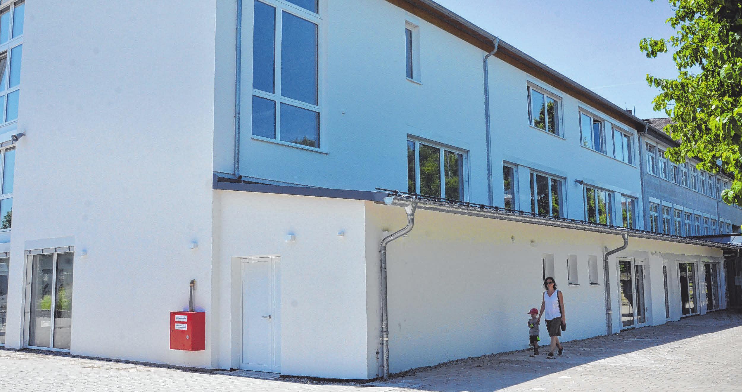 Der Umbau der Grundschule Achstetten ist bald fertig.