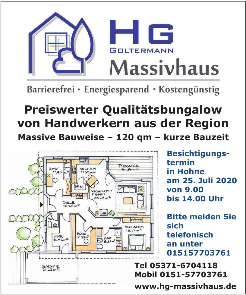 HG Goltermann Massivhaus