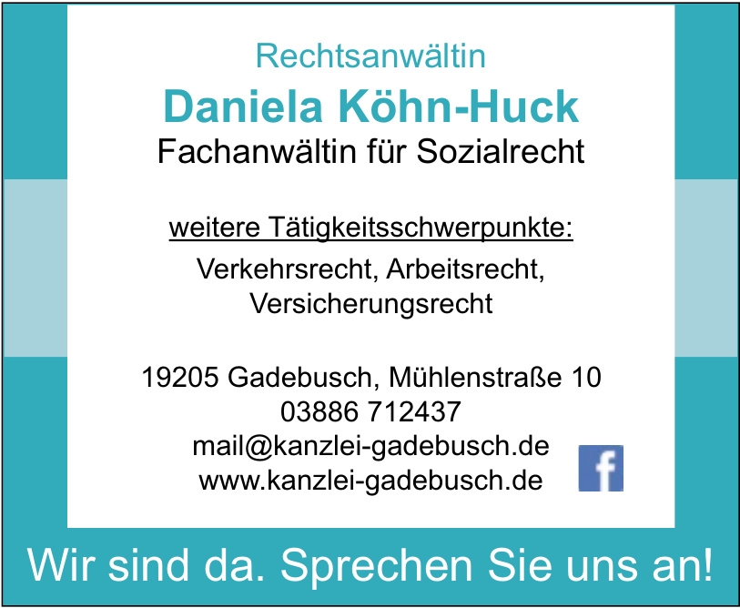 Daniela Köhn-Huck Rechtsanwältin