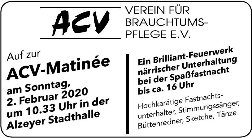 ACV- Matinée